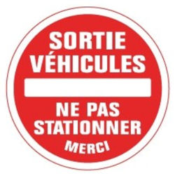 sortie véhiculesne pas stationner